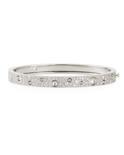 Pois Moi Luna 18k White Gold Diamond Bangle Bracelet