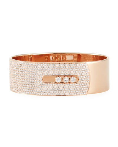 Manchette Move Noa Cuff Bracelet w/ Diamonds, Rose Gold