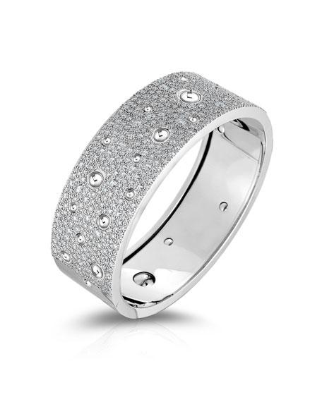 Roberto Coin Pois Moi Luna Exclusive 18k White Gold Diamond Bracelet