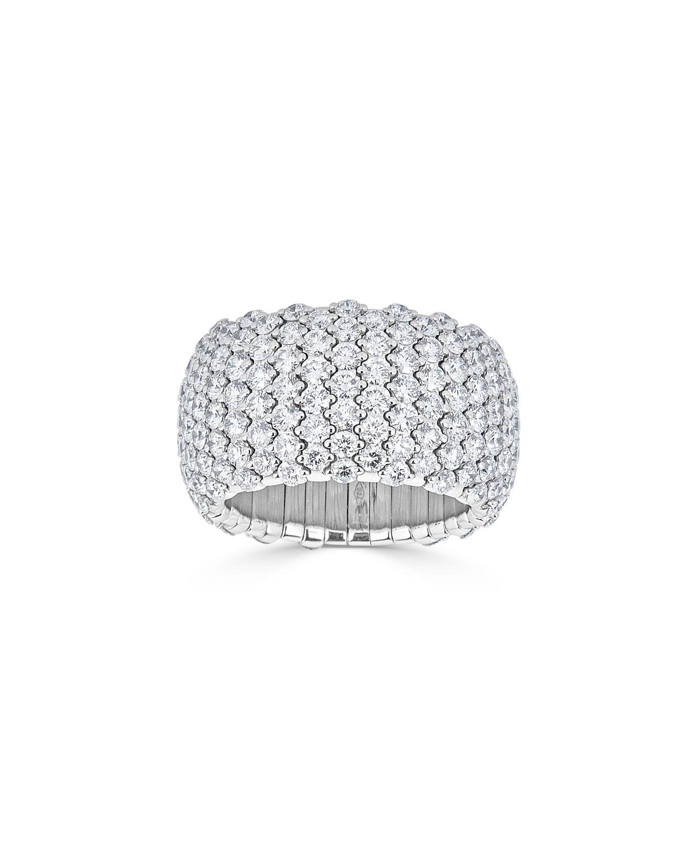ZYDO 18K WHITE GOLD DIAMOND STRETCH RING