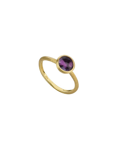18k Gold Jaipur Stack Ring in Amethyst, Size 6.5