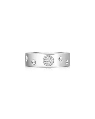 Pois Moi Luna 18k White Gold Ring, Size 6.75