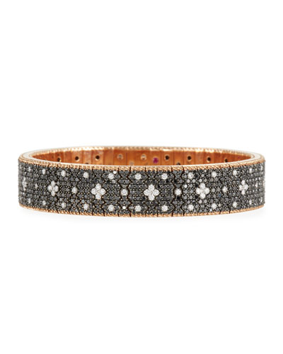 18k Rose Gold Venetian Princess Diamond Flexible Bracelet