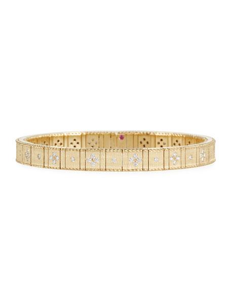 Roberto Coin 18k Gold Flexible Diamond Princess Bracelet