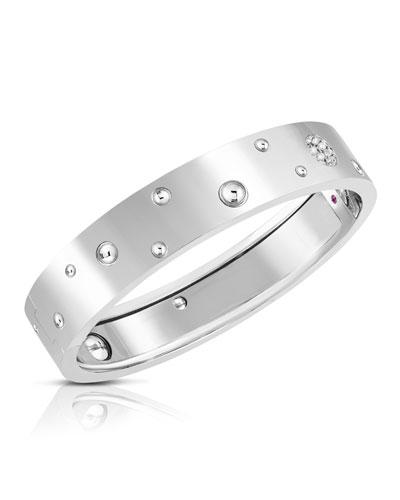 Pois Moi Luna 18k White Gold Diamond Bangle