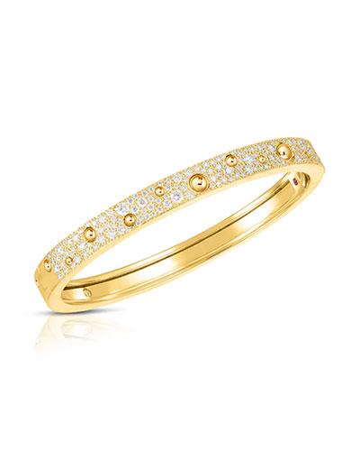Pois Moi Luna 18k Gold Diamond Bangle Bracelet