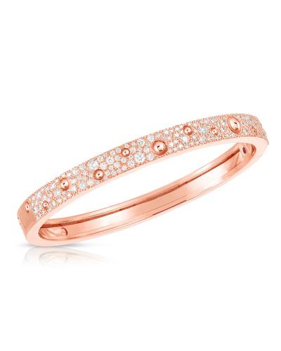 Pois Moi Luna 18k Rose Gold Diamond Bangle Bracelet