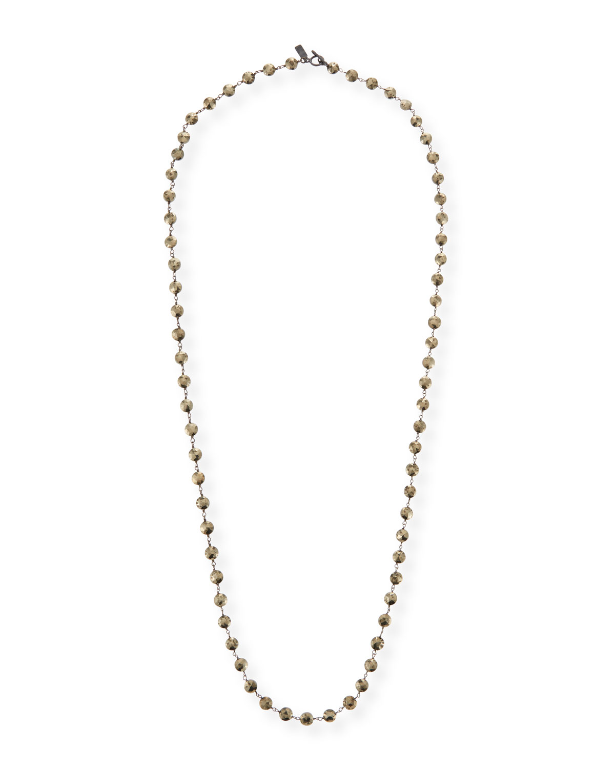 MARGO MORRISON Long Pyrite & Chain Necklace