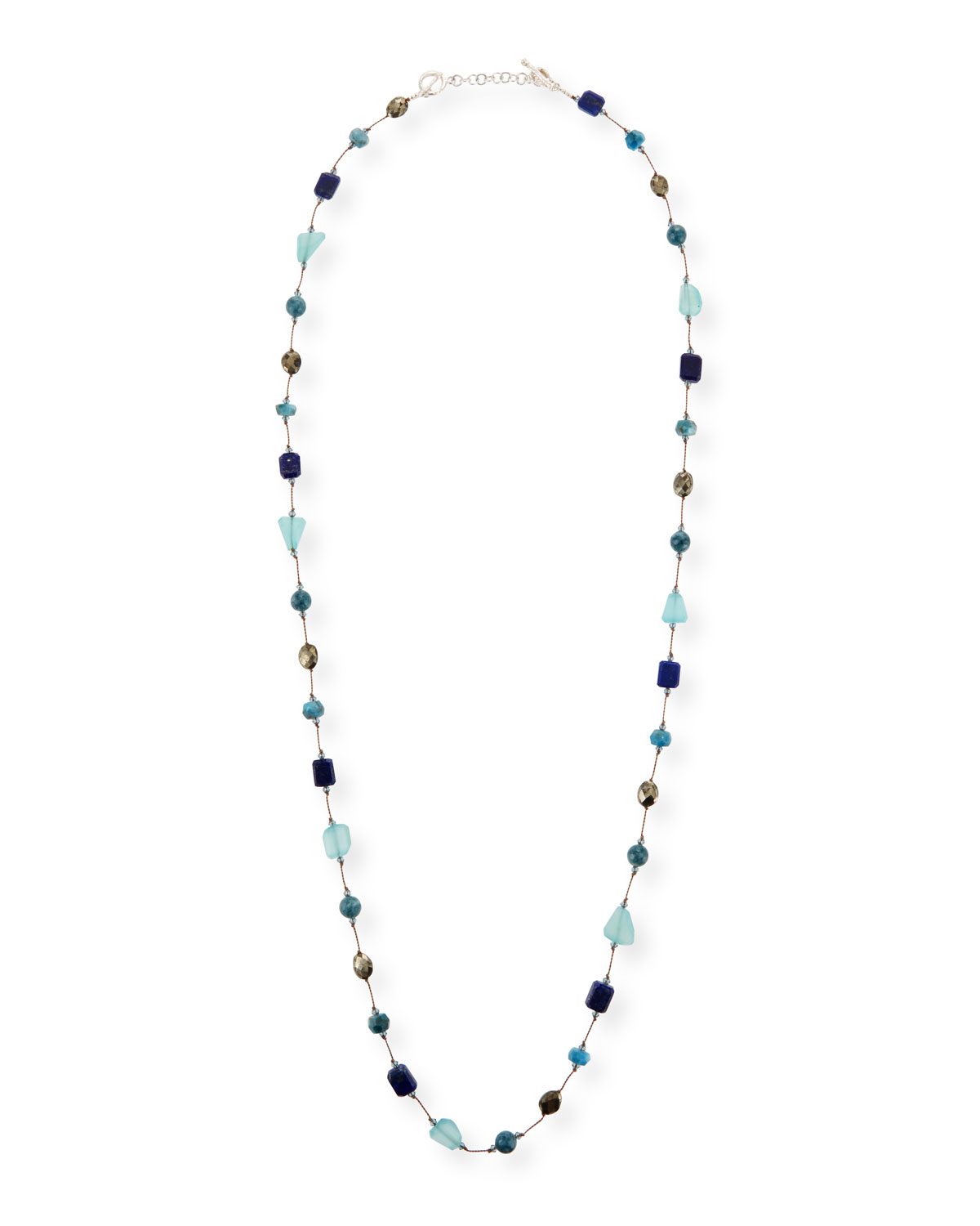 MARGO MORRISON Mixed Blue Stone Necklace