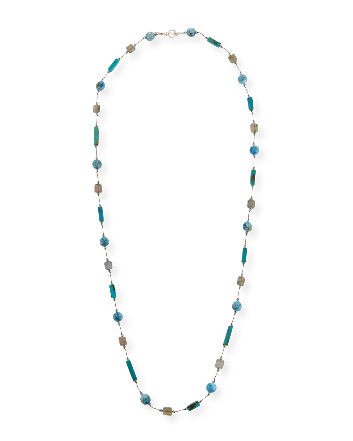 MARGO MORRISON Long Blue Stone Necklace