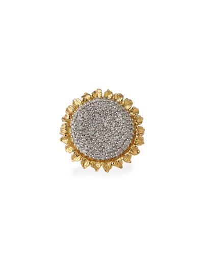 18k Vincent Ring w/ Diamonds, Size 7