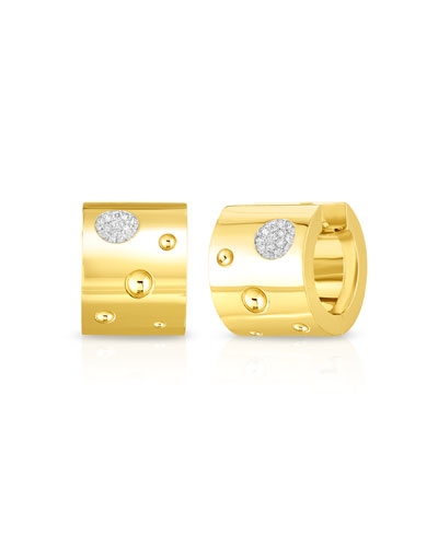 Pois Moi Luna 18k Gold Huggie Hoop Earrings