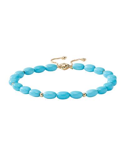Quick Look David Yurman 18k Gold Bijoux Turquoise Adjule Bracelet