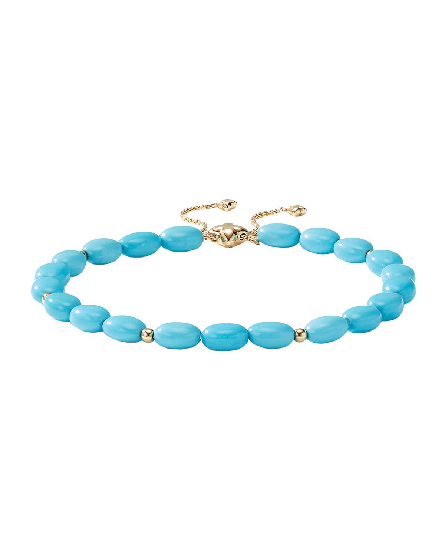 18k Gold Bijoux Turquoise Adjustable Bracelet