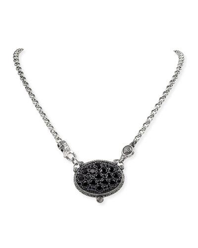 Black Spinel Pendant Necklace
