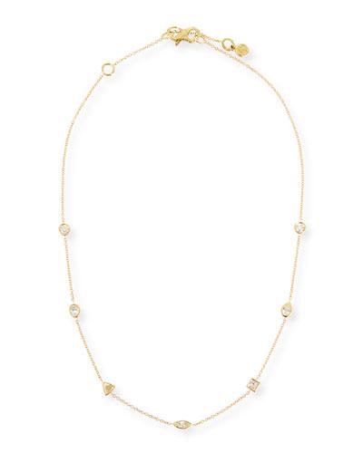 18k Gold Mixed Diamond Choker Necklace