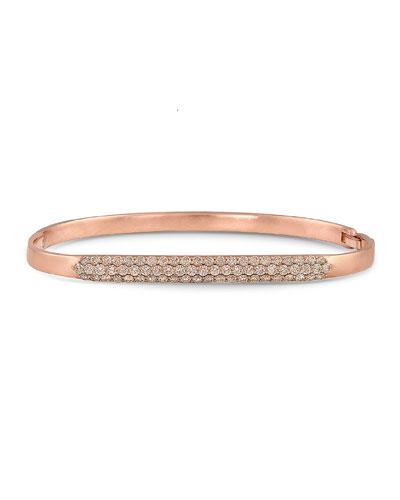 a9de207afb87bf Quick Look. Dominique Cohen · 18k Rose Gold Diamond Hinged Huggie Bangle  Bracelet