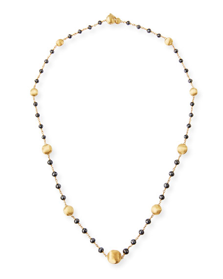 Marco Bicego Africa 18k Gold Short Necklace with Black Diamonds