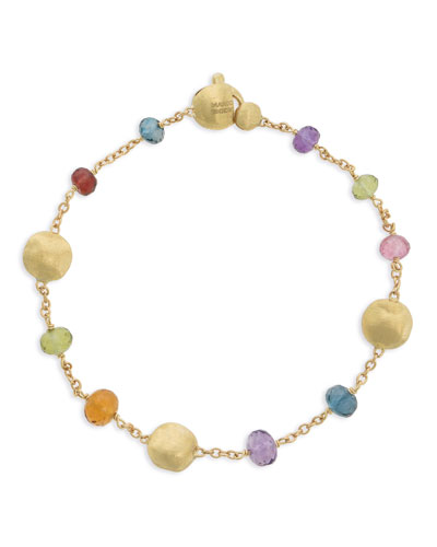 Africa 18k Mixed Gemstone Bracelet