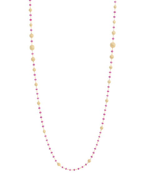 Marco Bicego 18k Gold Africa Ruby Long Necklace