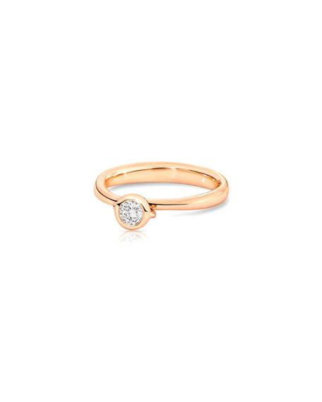 Tamara Comolli Bouton Rose Gold Diamond Solitaire Bezel Ring, Size 7/54