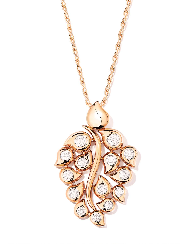Snowflakes Diamond Pendant in 18k Rose Gold