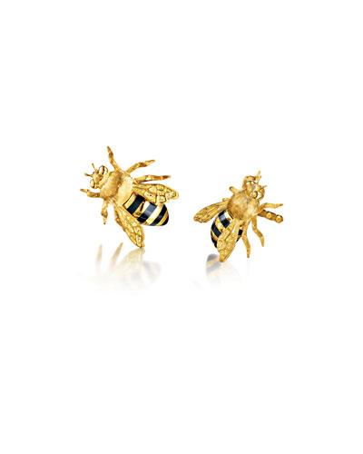 Quick Look Verdura 18k Gold Bee Clip On Earrings
