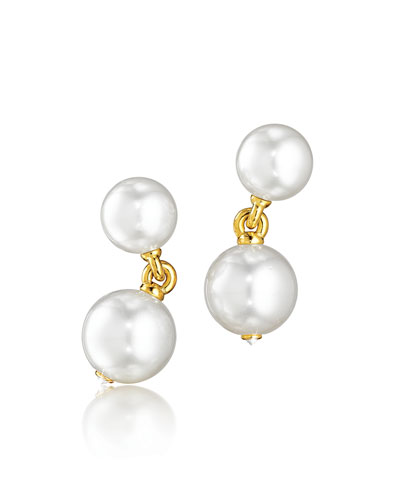 South Sea Pearl & Diamond Clip Earrings