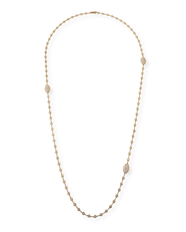 CRIVELLI 18K Gold Diamond Station Necklace