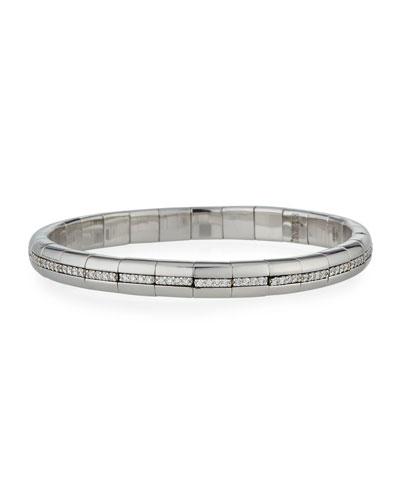 PURA GOLD 18k White Gold Diamond Eternity Bracelet