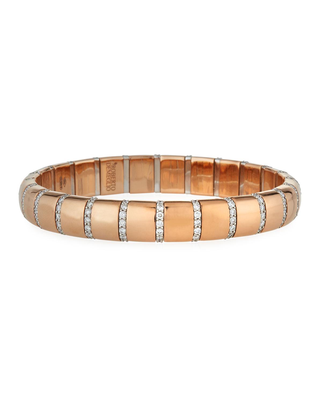 ROBERTO DEMEGLIO Pura Gold 18K Rose Gold Diamond Bar Bracelet