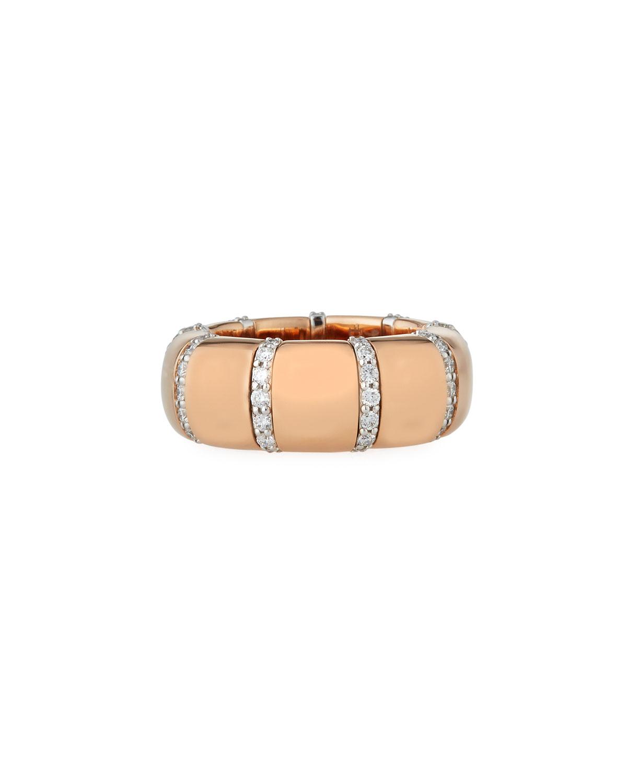 ROBERTO DEMEGLIO Pura Gold 18K Rose Gold Diamond Bar Ring