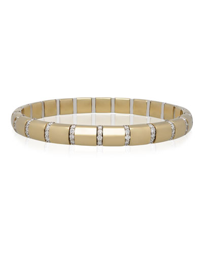 PURA GOLD 18k Diamond Bar Bracelet