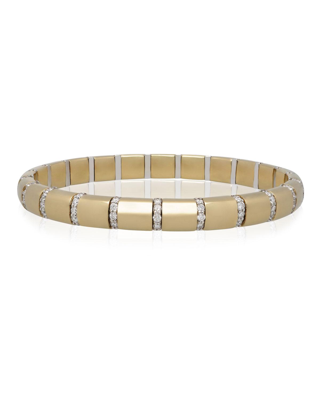ROBERTO DEMEGLIO Pura Gold 18K Diamond Bar Bracelet