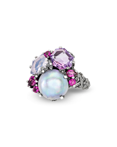 Stephen Dweck Multi-Stone Small Cluster Ring, Size 7