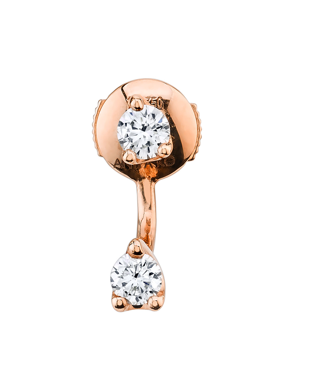 18k Rose Gold Diamond Orbit Earring (Single)