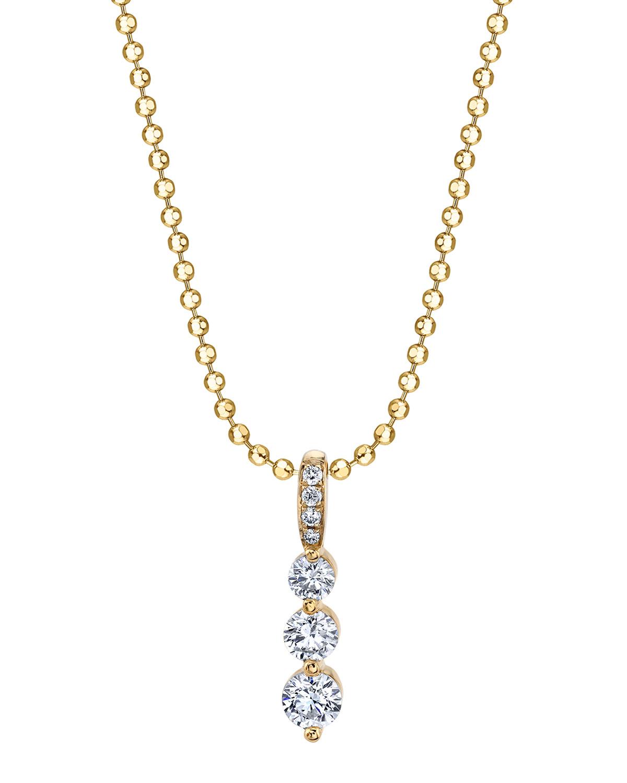 18k Gold Small Diamond Twiggy Necklace