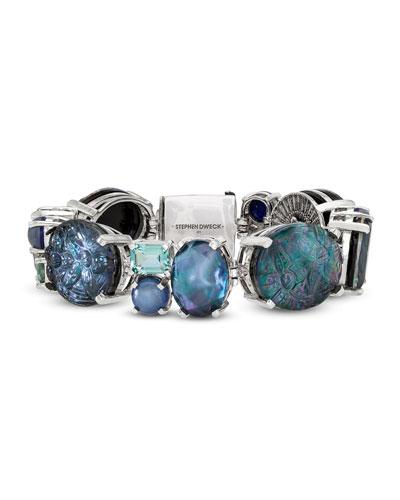 Multihued Blue Stone Bracelet