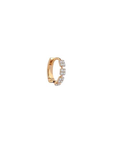 14k Rose Gold Diamond Hoop Earring (Single)