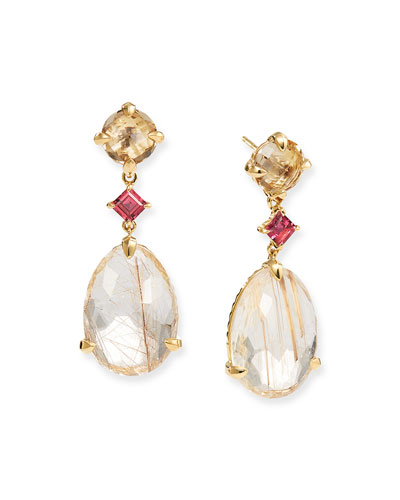 18k Gold Chatelaine Drop Earrings