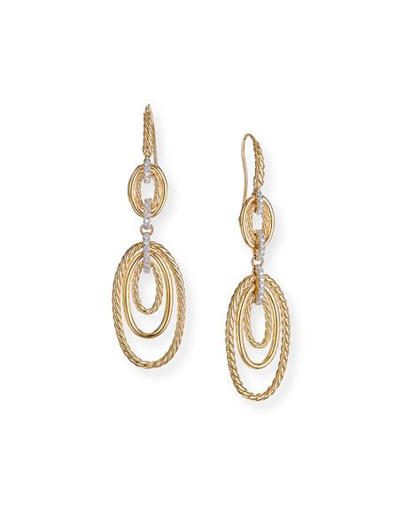 David Yurman Continuance 18k Gold Diamond Multi-Drop Earrings
