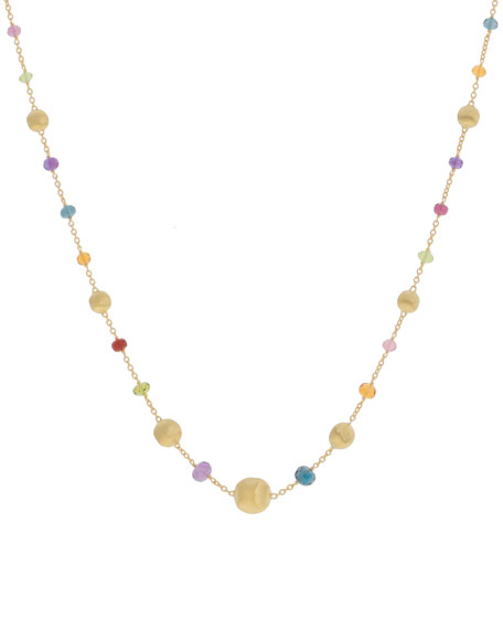 Marco Bicego Africa 18k Mixed Gemstone Short Necklace