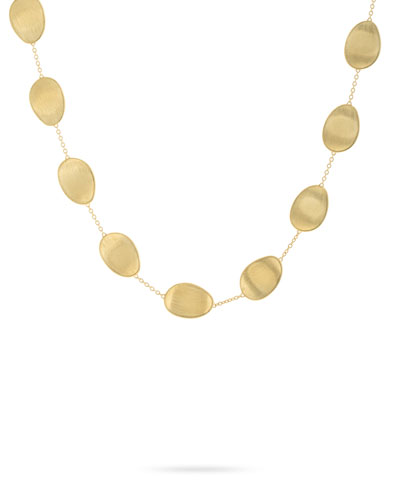 Lunaria 18k Gold Short Station Necklace
