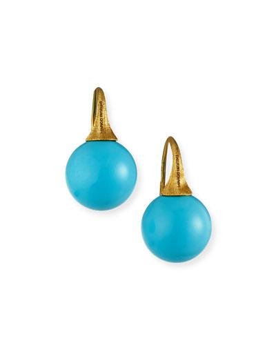Africa 18k Turquoise Drop Earrings