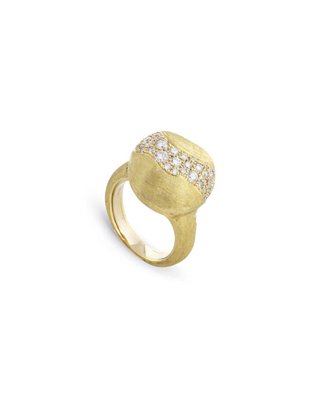 Marco Bicego 18k Gold Africa Medium Diamond Constellation Ring, Size 7.5