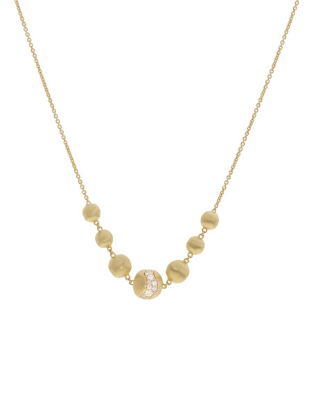 Marco Bicego 18k Gold Africa Short Diamond Constellation Necklace