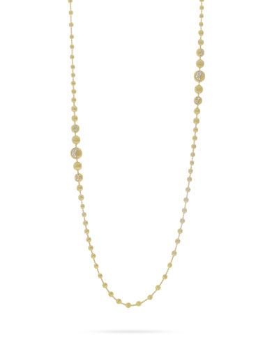 18k Gold Africa Graduated Diamond Constellation Necklace