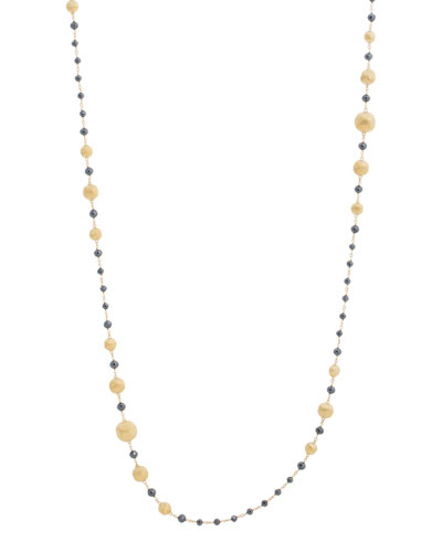 18k Gold Africa Black Diamond Necklace, 36