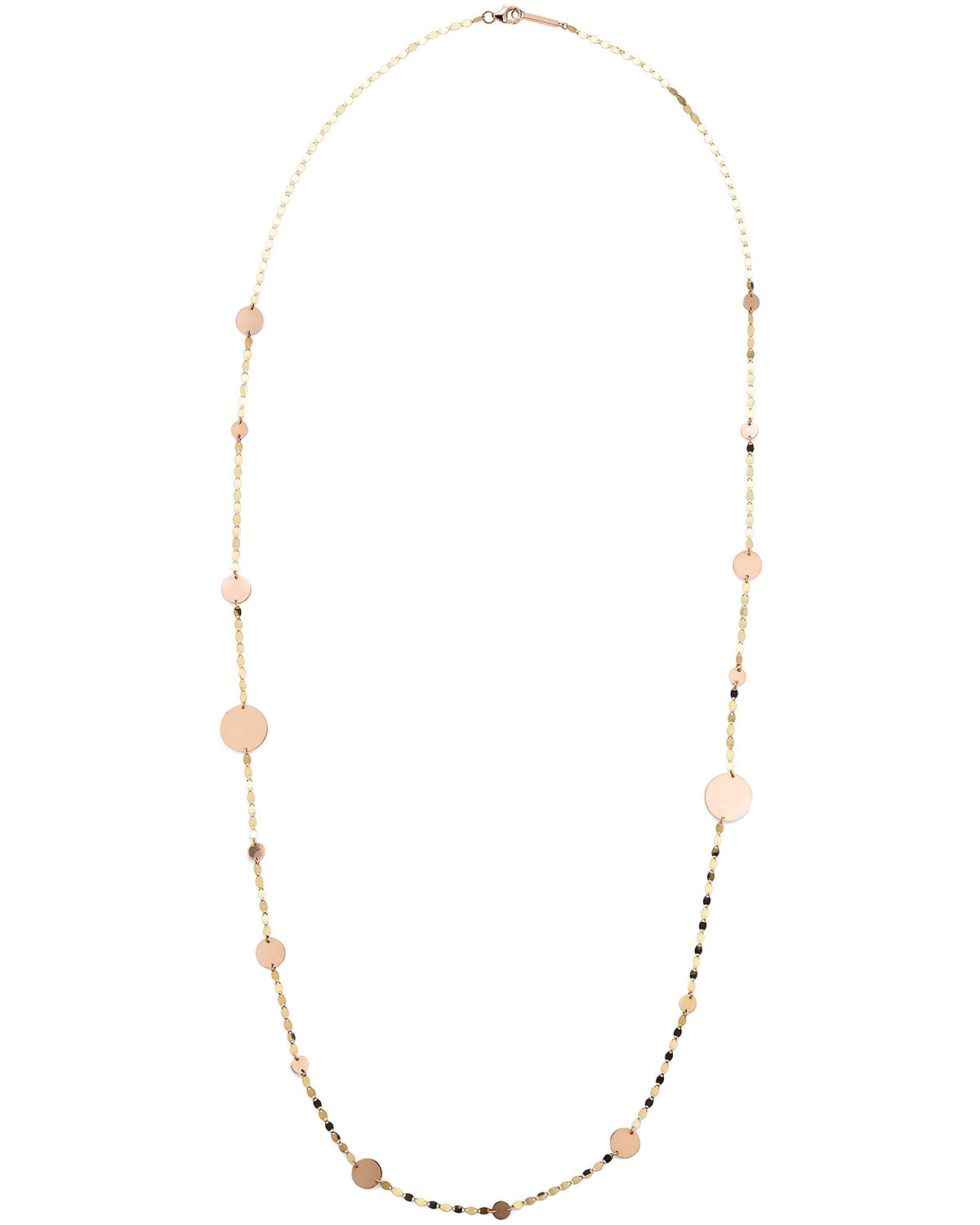 Lana 14K GOLD CLEO LONG DISC NECKLACE