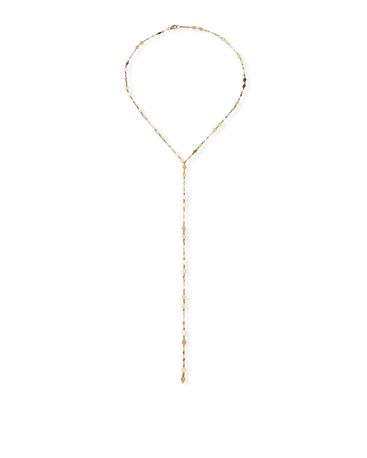 Lana 14k Gold Blake & Mini Kite Drop Lariat Necklace
